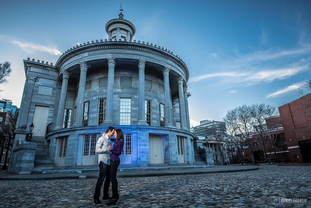 Old City engagement with Dana and Daniel