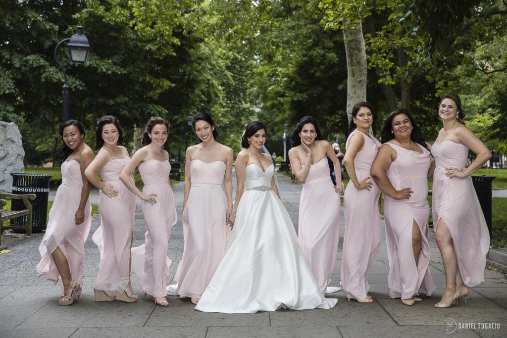 Washington Square bridesmaids