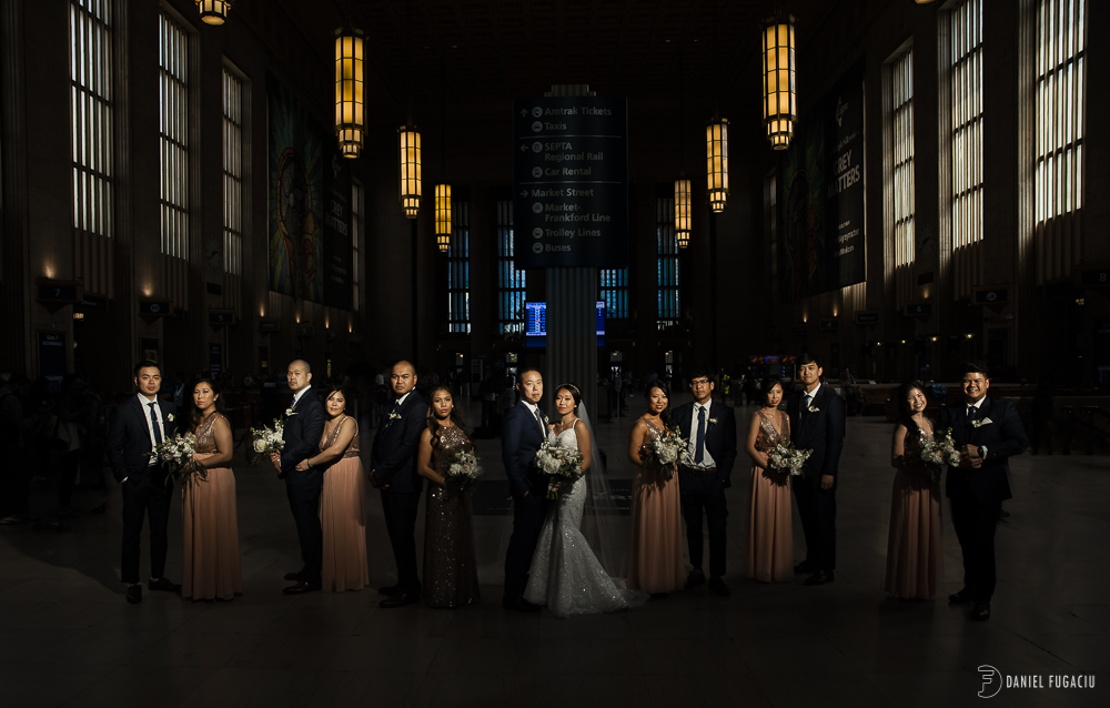 30th st Station bridal party