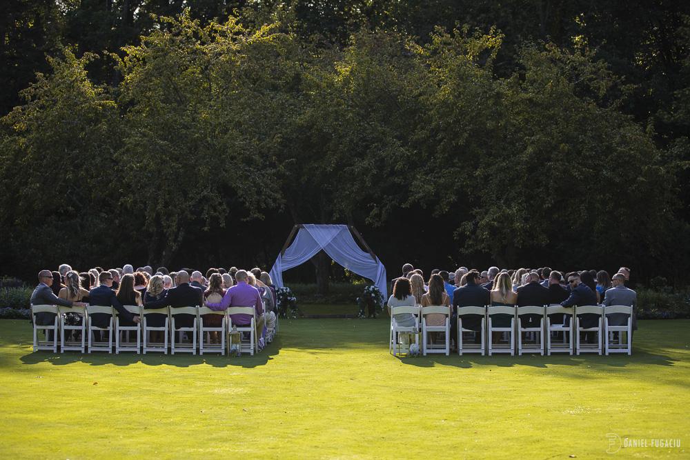 Portrait of bride and groom at Brantwyn Estate wedding