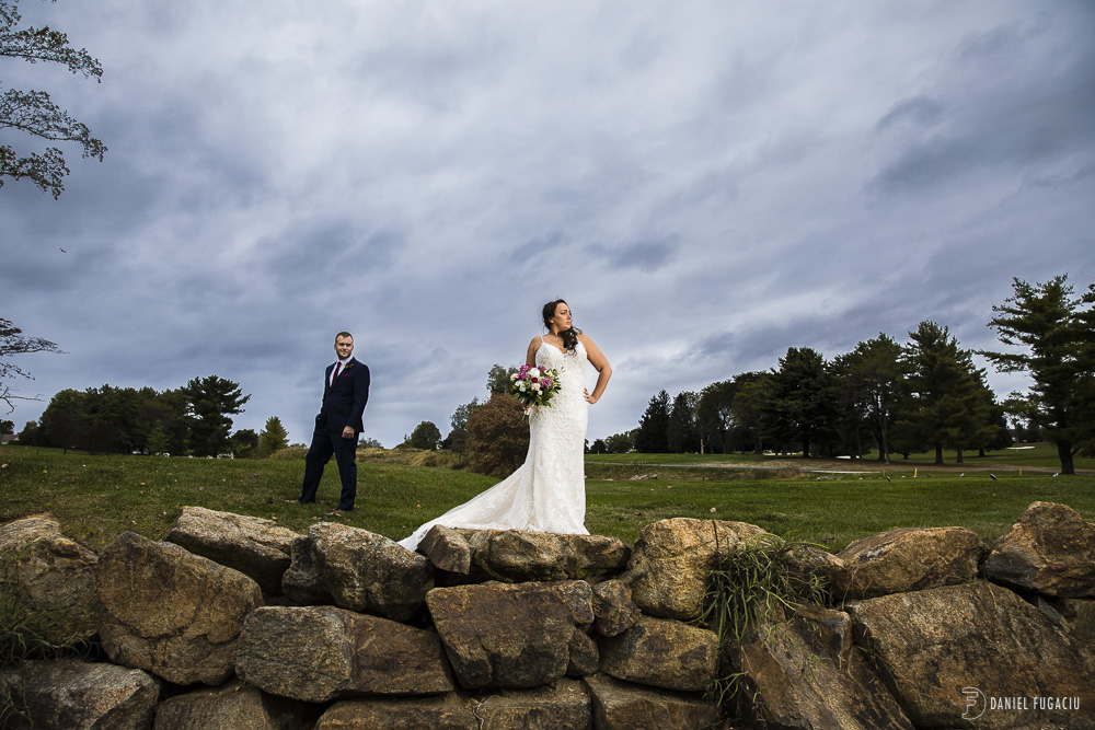 Penn Oaks Golf Club fall wedding