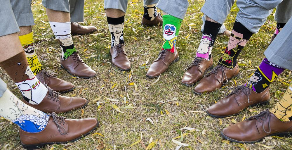 Custom wrestling socks groomsmen