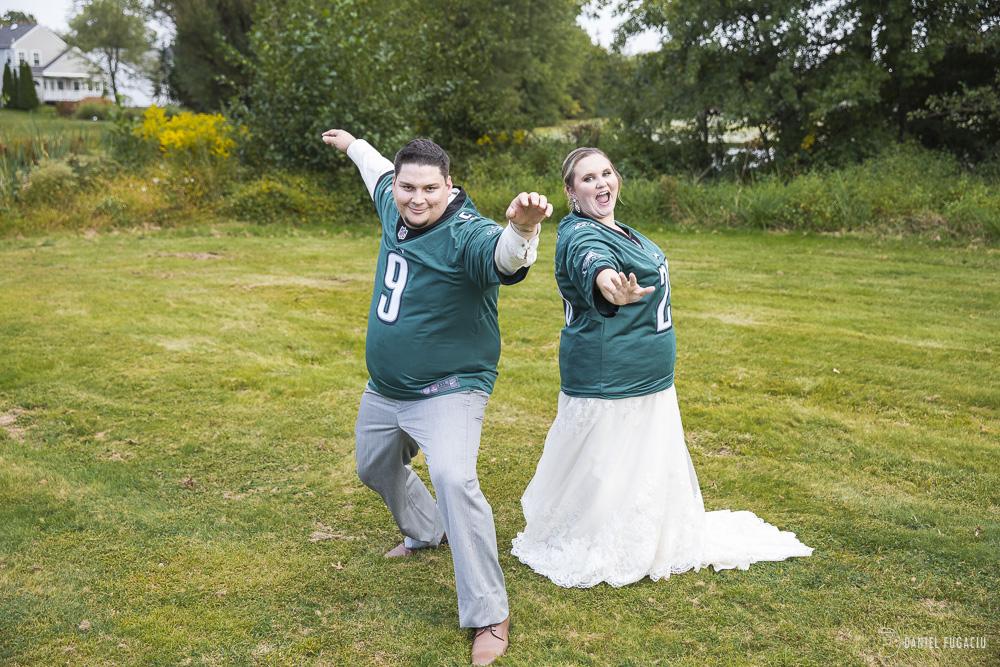 Philadelphia Eagles Jersey bride groom
