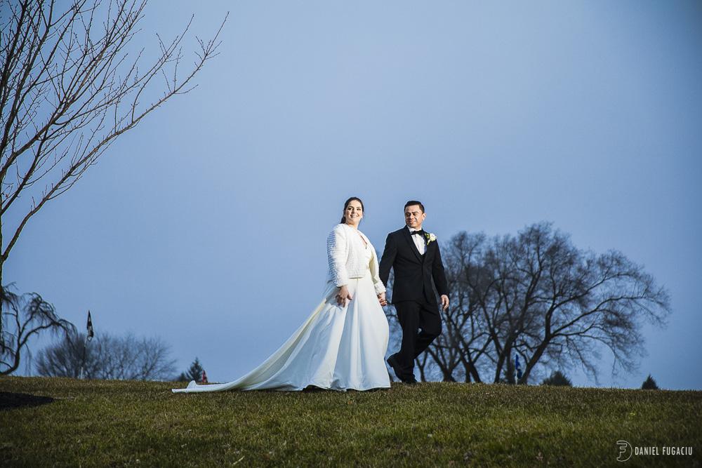 Penn Oaks Golf Club Winter Wedding
