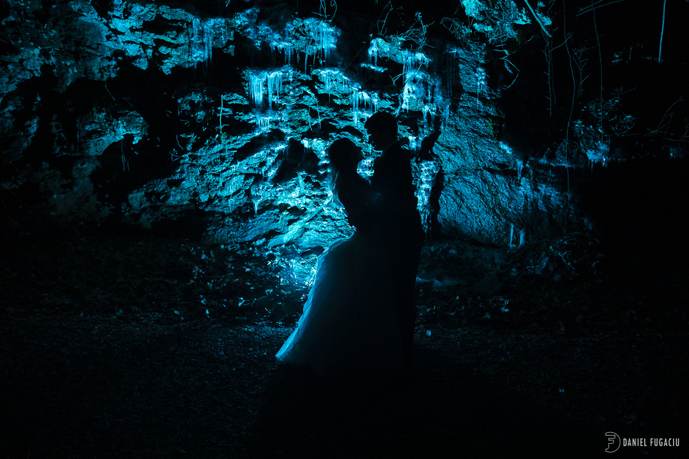 silhouette blue
