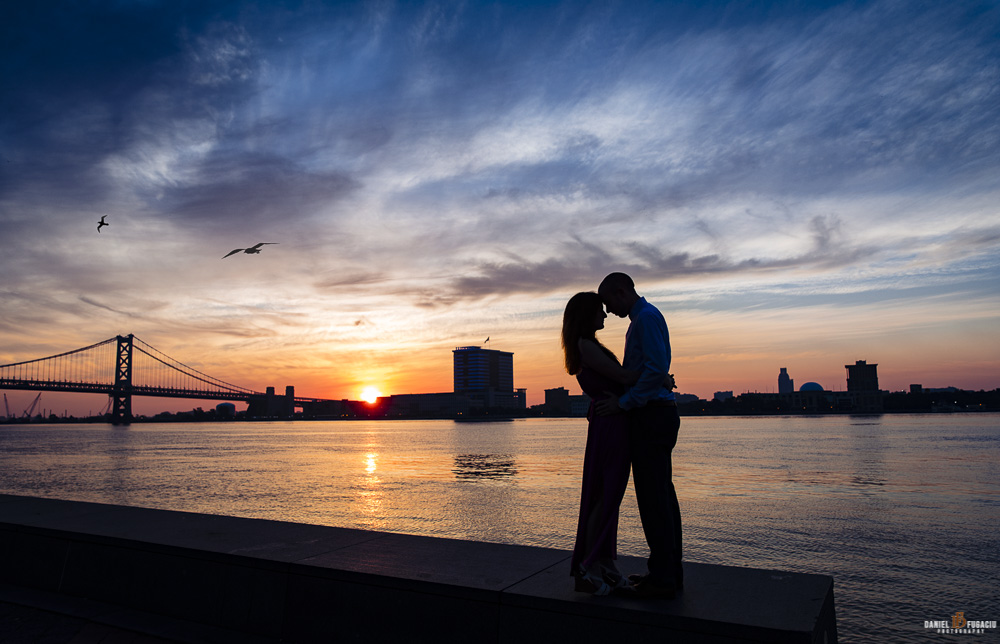 Engagement at Spruce street harbor