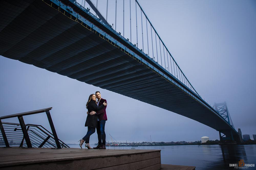 Ben Franklin Bridge Engagement
